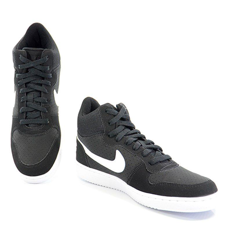 Tênis Masculino Nike Court Borough Mid Preto Branco - 838938-010