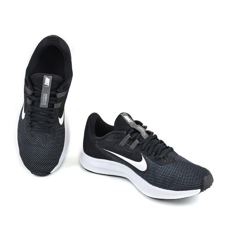 Tênis Masculino Nike Downshifter 9 Preto Branco - Aq7481-002