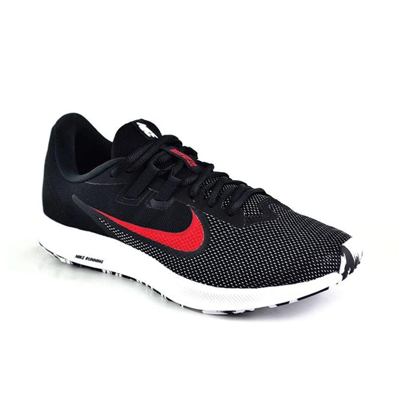 Tênis Masculino Nike Downshifter 9 Preto Vermelho Branco - Aq7481-010