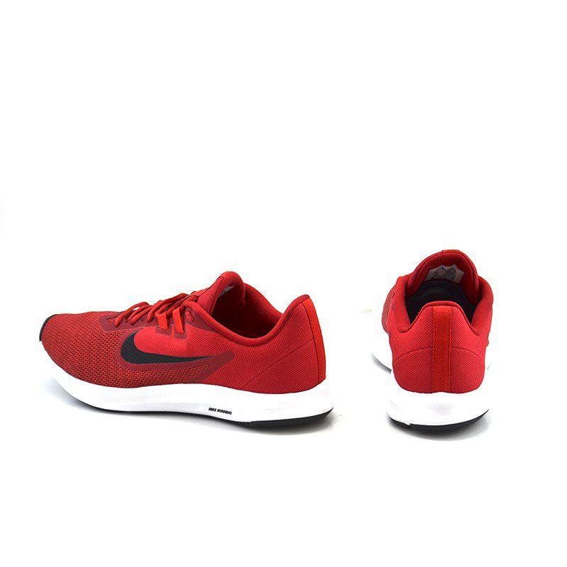 Tênis Masculino Nike Downshifter 9 Vermelho Preto - Aq7481-600