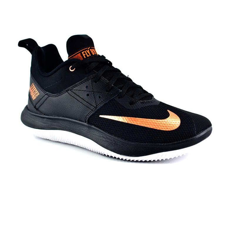 Tênis Masculino Nike Fly By Low Ii Preto Bronze - Aj5902-007
