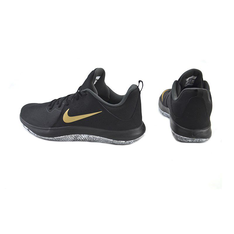 Tênis Masculino Nike Fly By Low Preto Dourado - 908973-090