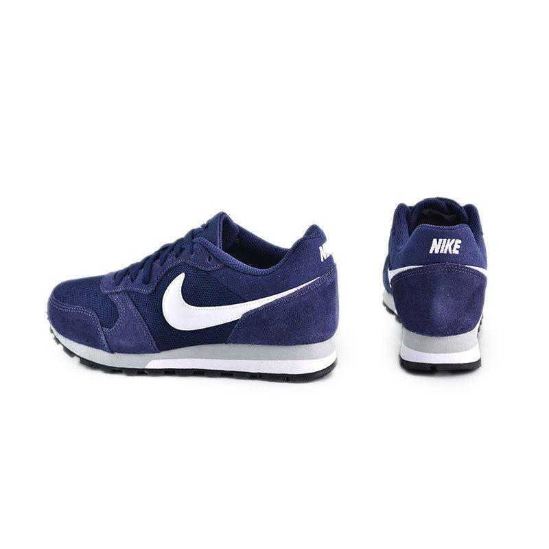 Tênis Masculino Nike Md Runner 2 Azul Marinho Branco Cinza - 749794-410