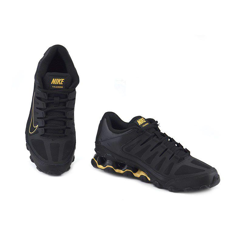 Tênis Masculino Nike Reax 8 Tr Mesh Preto Dourado - 621716-020
