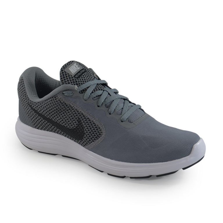 Tênis Masculino Nike Revolution 3 Cinza Preto - 819300-002