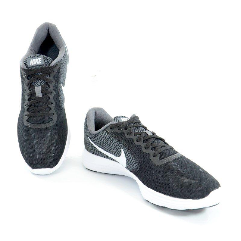 Tênis Masculino Nike Revolution 3 Preto Branco - 819300-001