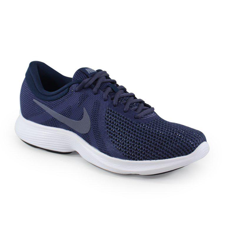 Tênis Masculino Nike Revolution 4 Indigo Cinza - 908988-500