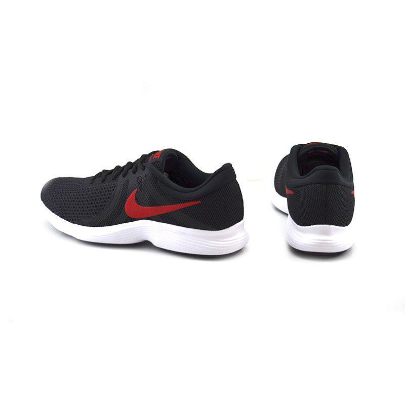 Tênis Masculino Nike Revolution 4 Preto Vermelho - 908988-011