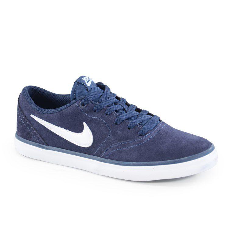 Tênis Masculino Nike Sb Check Solar Azul Marinho Branco - 843895-400
