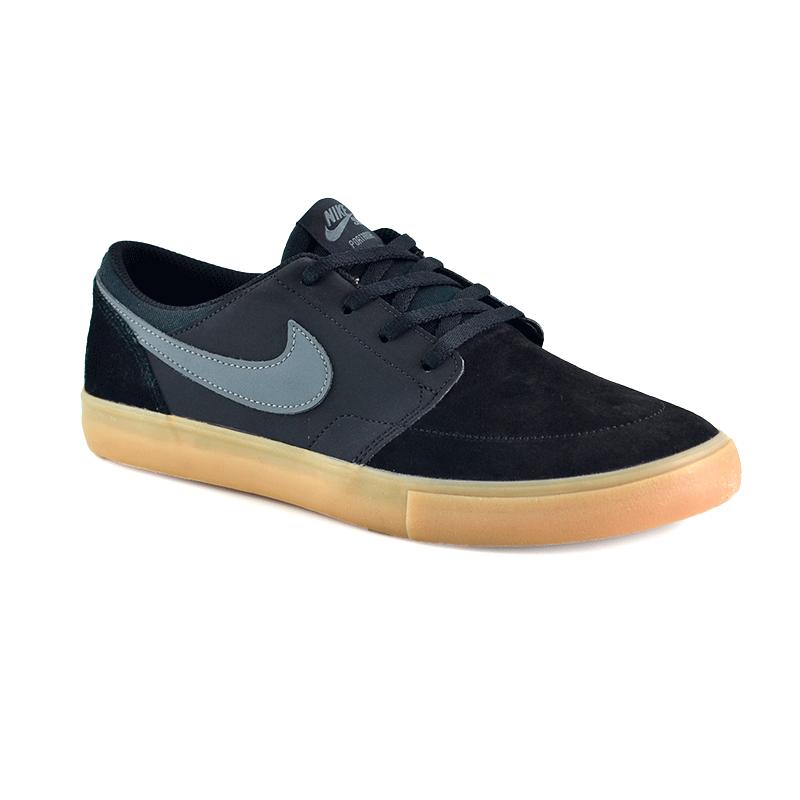 Tênis Masculino Nike Sb Portmore Ii Solar Preto Cinza - 880266-009