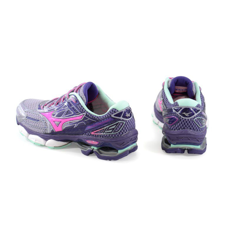 Tenis Mizuno Wave Creation  19 Cinza Rosa Roxo - 4139265