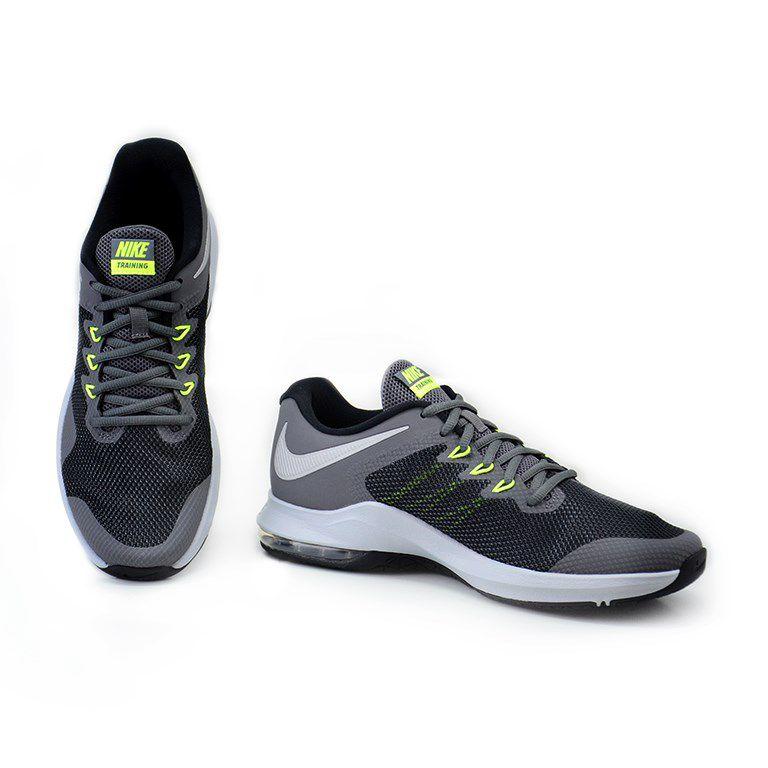 Tênis Nike Air Max Alpha Trainer Grafite Preto Verde Limão - Aa7060-006