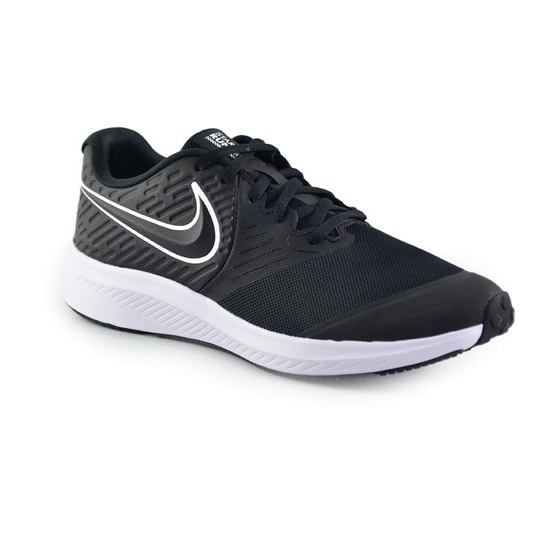 Tenis Nike Star Runner 2 Preto Branco - Aq3542-001