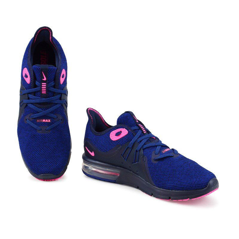Tenis Nike Wmns Air Max Sequent 3 Marinho Pink Preto - 908993-403