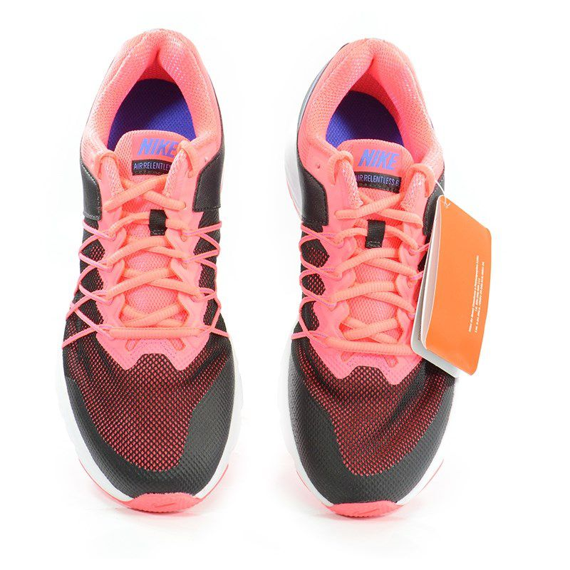 Tenis Nike Wmns Air Relentless 6 Preto Rosa Neon Azul - 843883-004