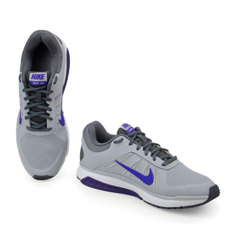 Tenis Nike Wmns Dart 12 Msl Cinza Roxo - 831539-015