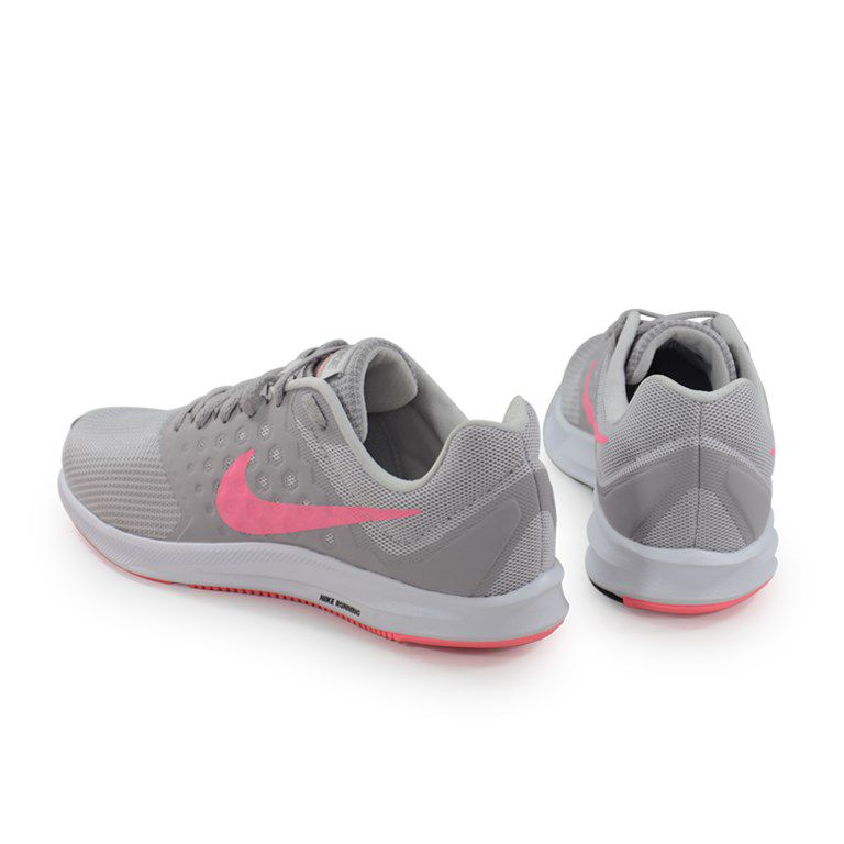 Tenis Nike Wmns Downshifter 7 Cinza Pink Branco - 852466-015