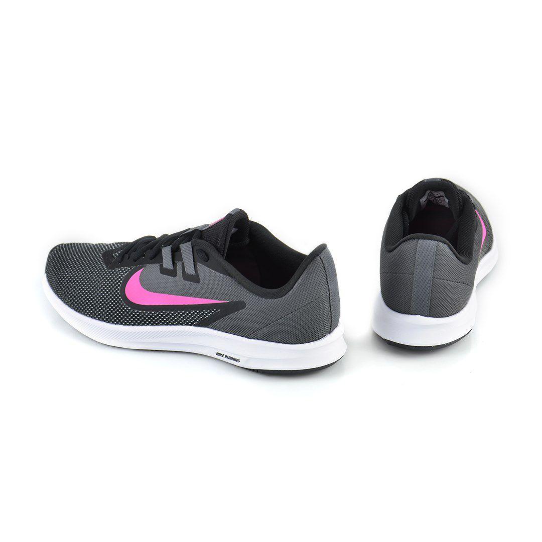 Tenis Nike Wmns Downshifter 9 Preto Cinza Rosa - Aq7486-002