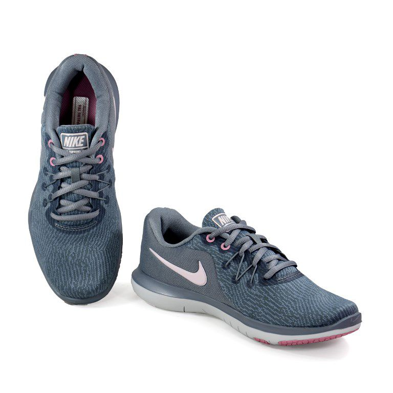 Tenis Nike Wmns Flex Supreme 6 Cinza Rosa Claro - 909014-004