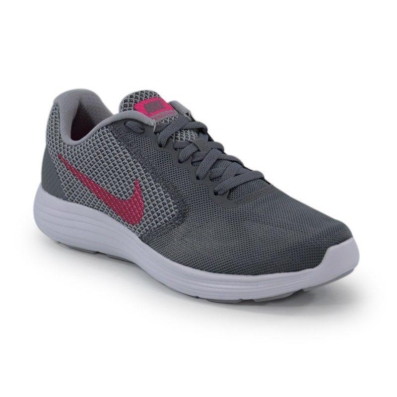 Tenis Nike Wmns Revolution 3 Grafite Cinza Pink - 819303-022