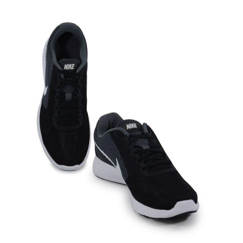 Tenis Nike Wmns Revolution 3 Preto Cinza Branco - 819303-001
