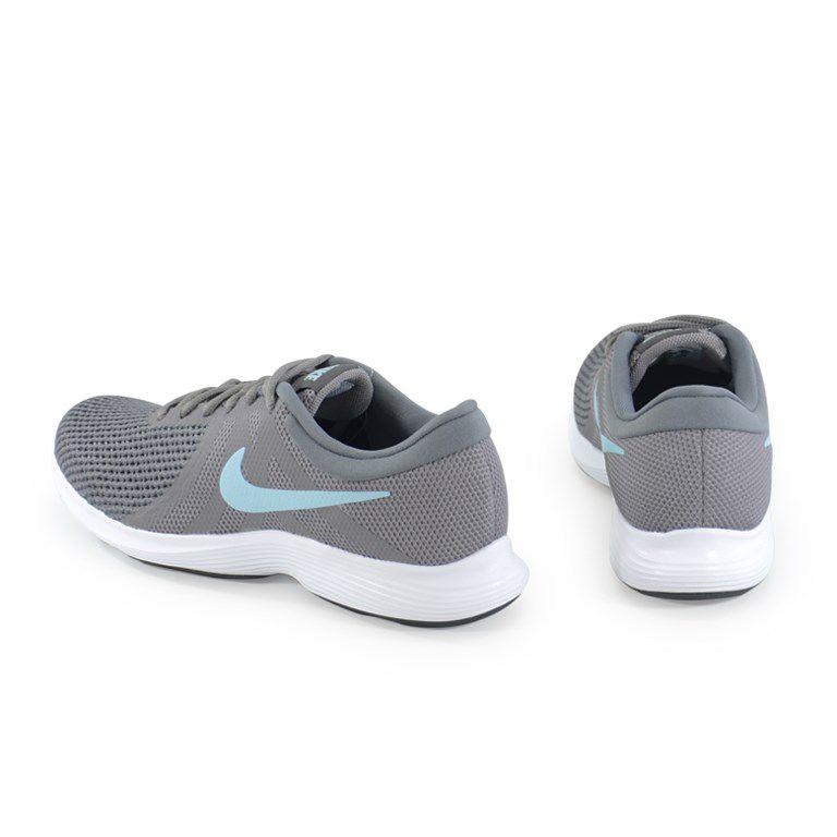 Tenis Nike Wmns Revolution 4 Cinza Azul - 908999-004