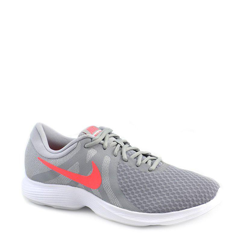 Tenis Nike Wmns Revolution 4 Cinza Pink Neon - 908999-012