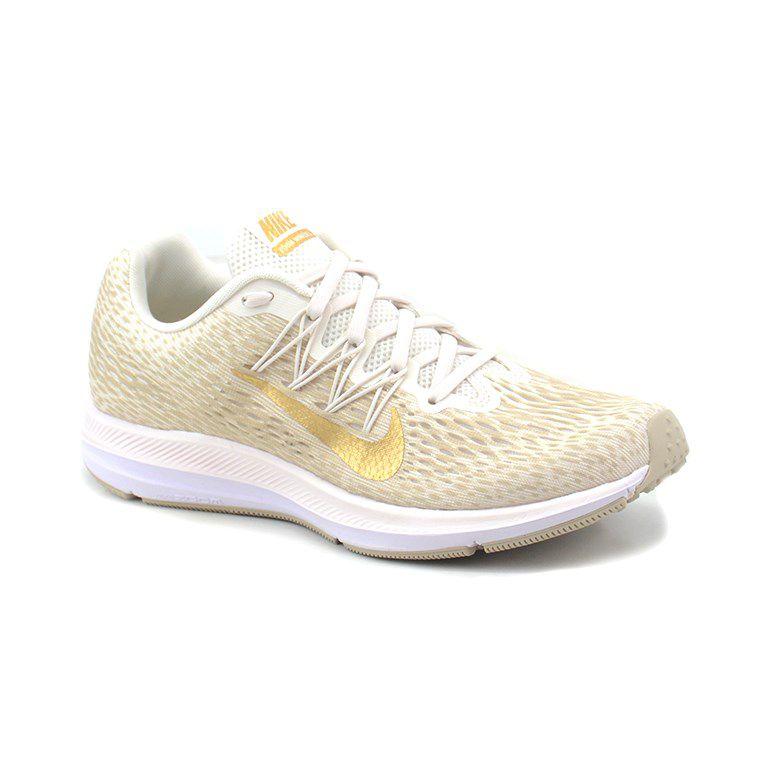 Tenis Nike Wmns Zomm Winflo Creme Dourado - Aa7414-008