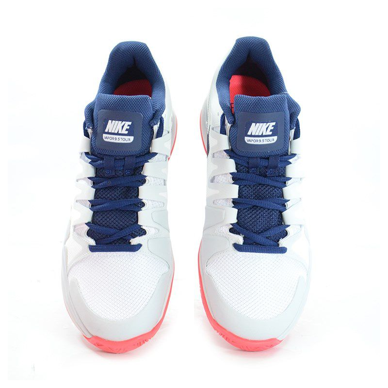 Tenis Nike Wmns Zoom Vapor 9.5 Tour Branco Marinho Coral - 631475-164