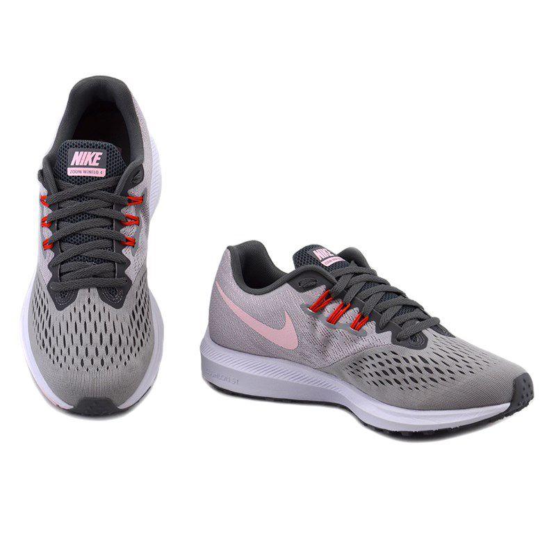 Tenis Nike Wmns Zoom Winflo 4 Grafite Cinza - 898485-010
