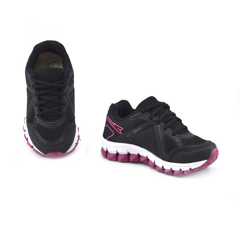 Tenis Rayon Infantil Meninas Preto Pink-R264