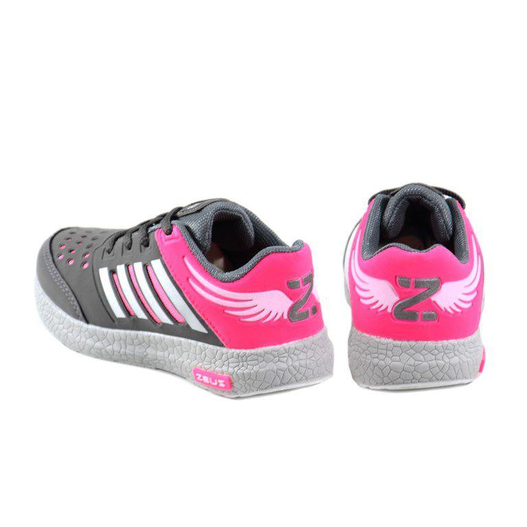 Tenis Zeus Infantil Meninas Gelo Grafite Pink-Mx