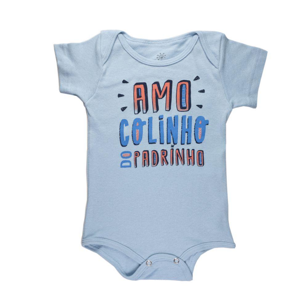 Body Infantil Amo Colinho do Padrinho Azul