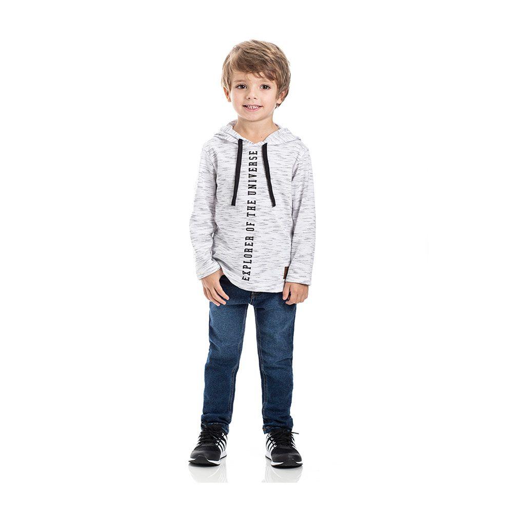 Camiseta com Capuz Infantil Menino Off White