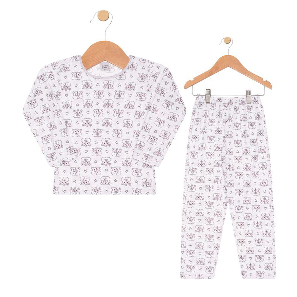 Pijama Coala Infantil Menina Branco