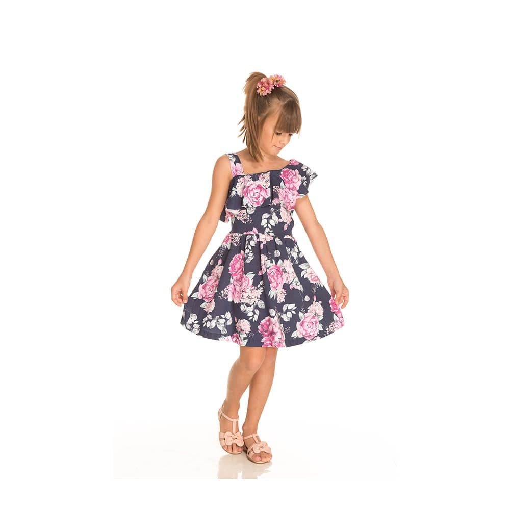 Vestido Floral Infantil Menina