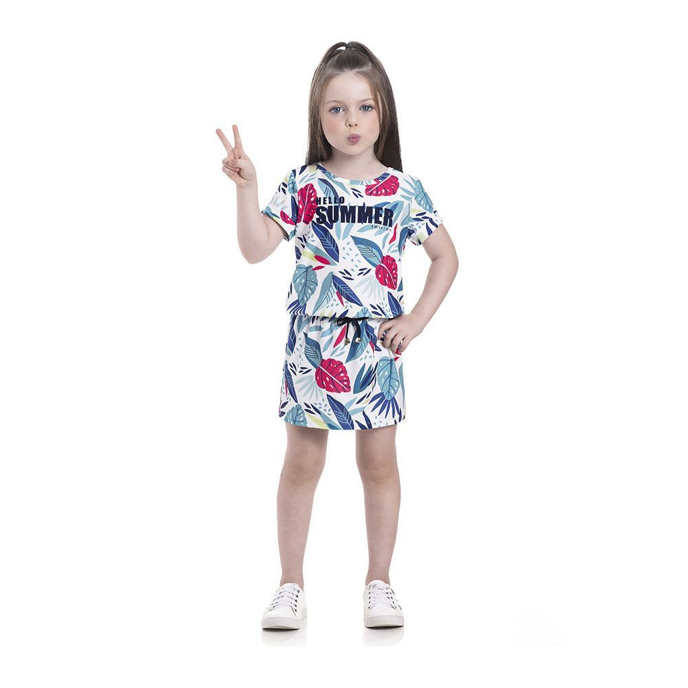 Vestido Hello Summer Infantil Menina