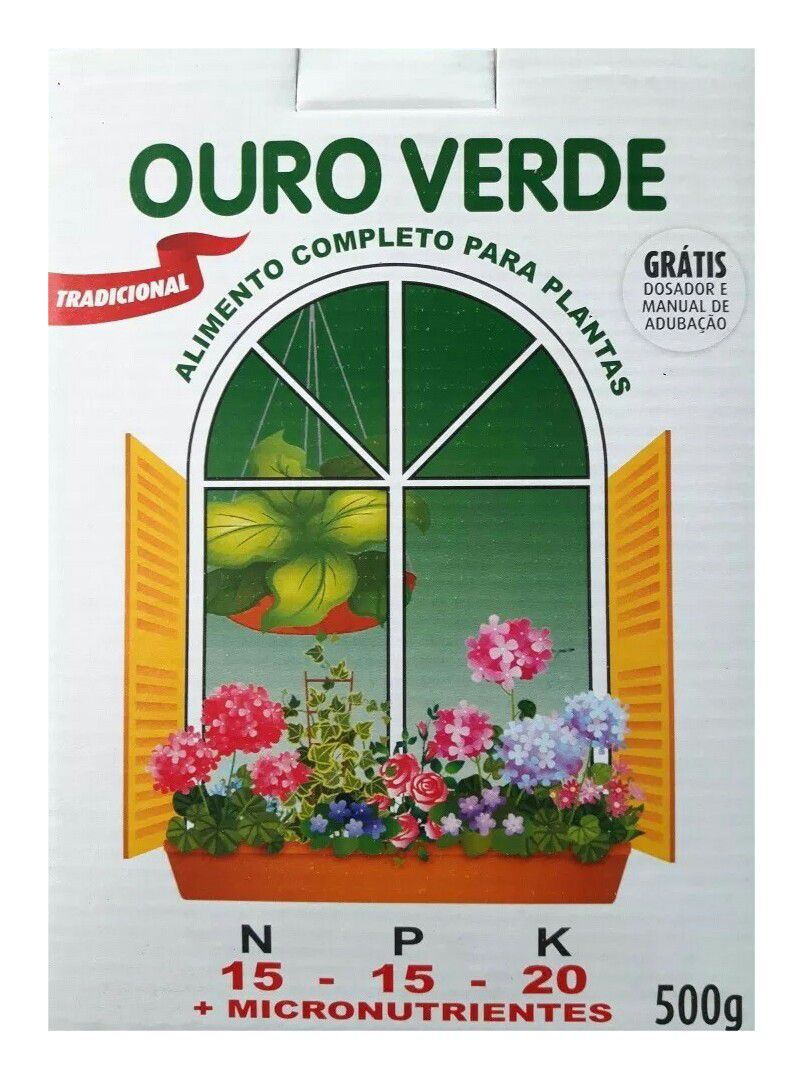 Adubo Ouro Verde Po 500 Grs