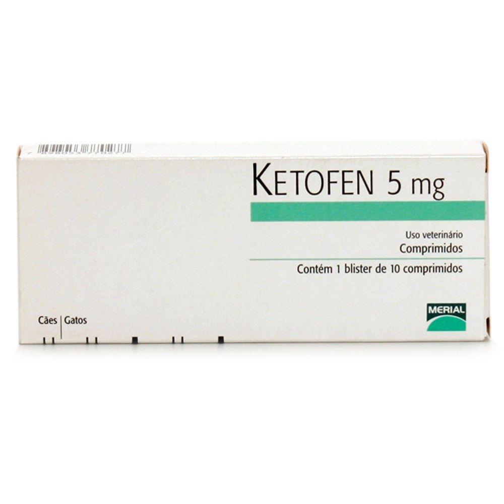 Anti-inflamatório Ketofen de 5 mg para Cães e Gatos - 10 Comprimidos