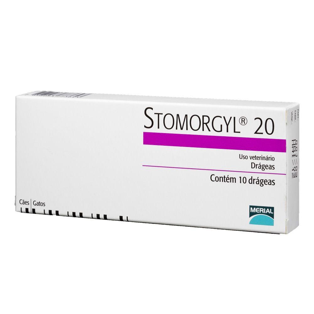 Antibiótico Merial Stomorgyl de 20 mg para Cães e Gatos - 10 Comprimidos