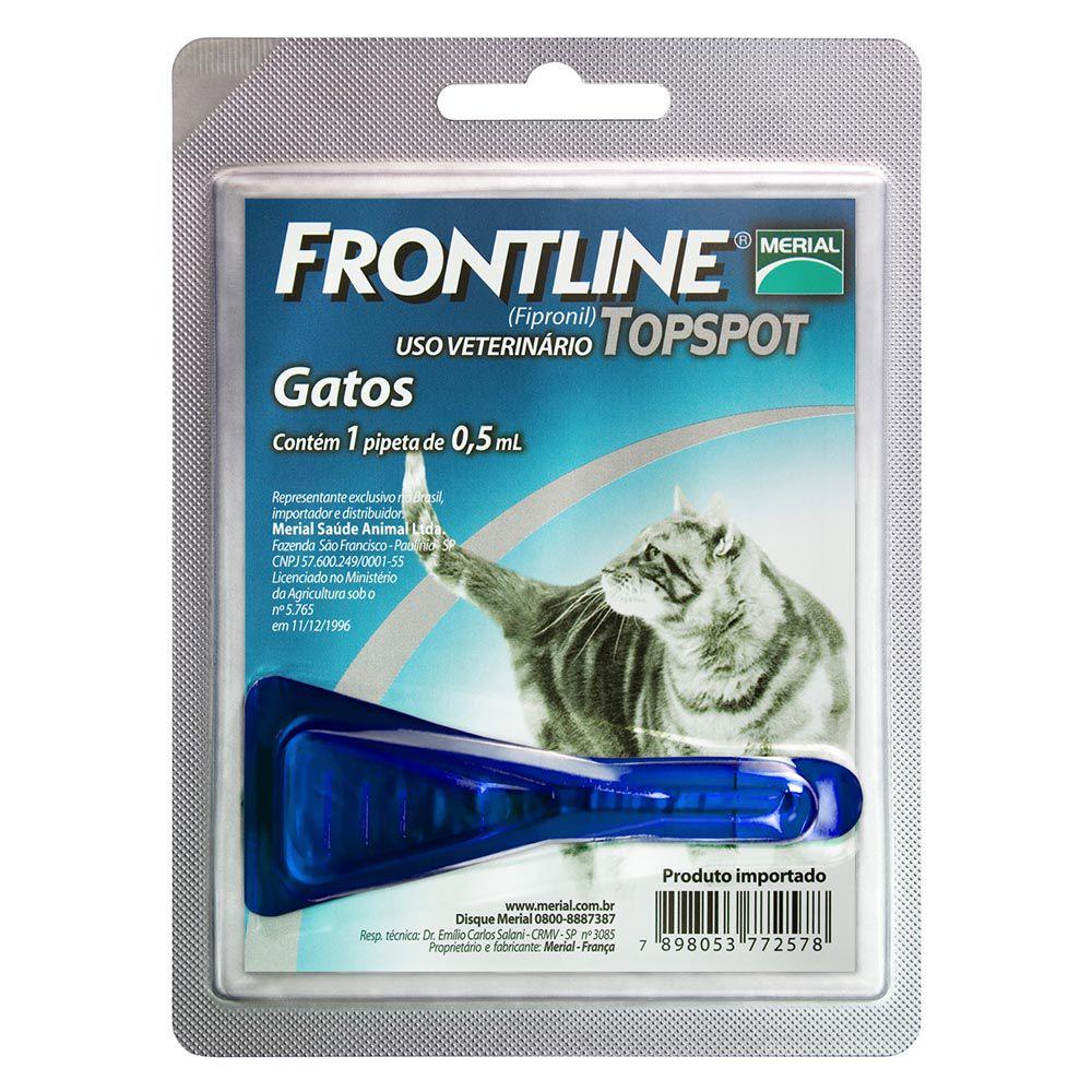 Antipulgas e Carrapatos Frontline Top Spot de 0,5 mL para Gatos