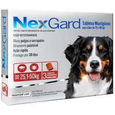 Antipulgas e Carrapatos Merial Nexgard de 6,0 g Tam GG para Cães de 25,1 a 50 Kg