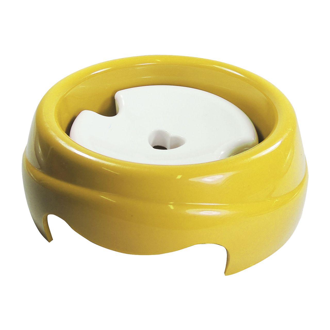 Bebedouro Furacão Pet de Plástico Especial para Cães de Pelos Longos - Amarelo
