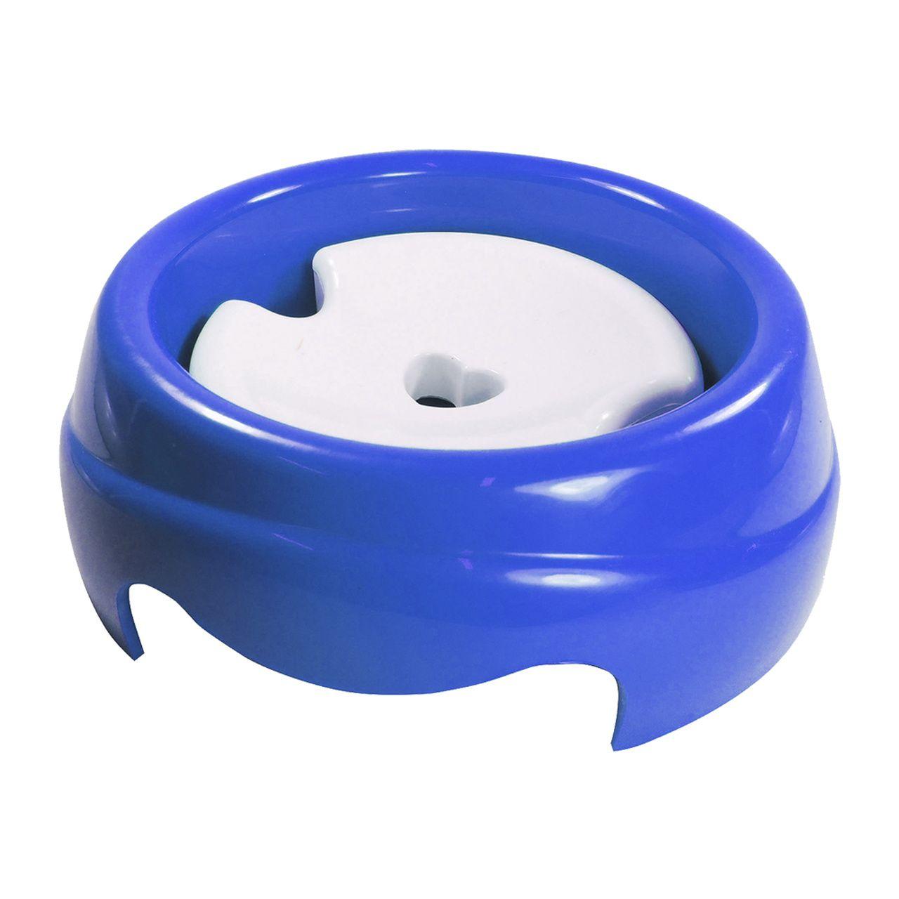 Bebedouro Furacão Pet de Plástico Especial para Cães de Pelos Longos - Azul