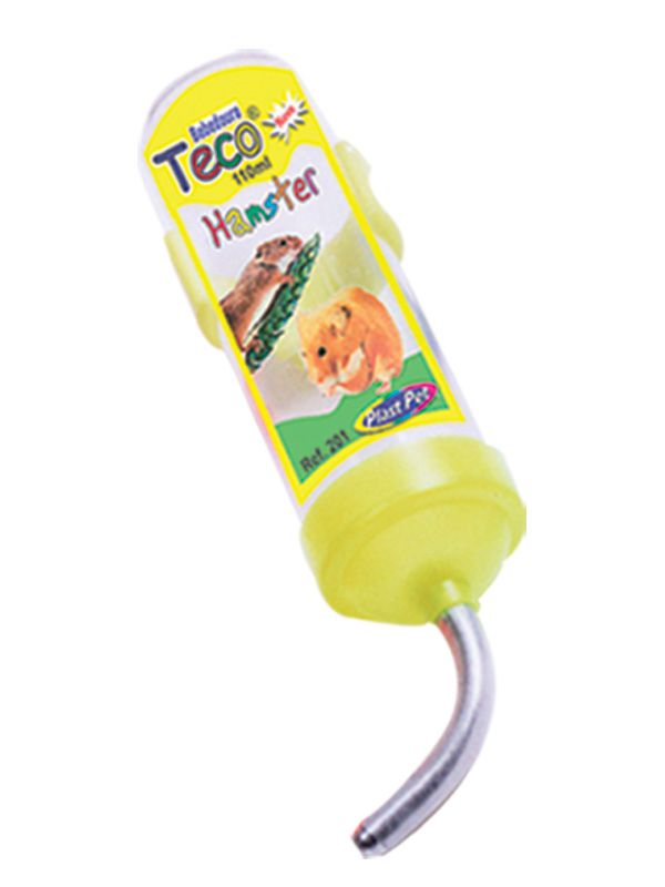 Bebedouro Plastpet Teco para Hamster - Amarelo