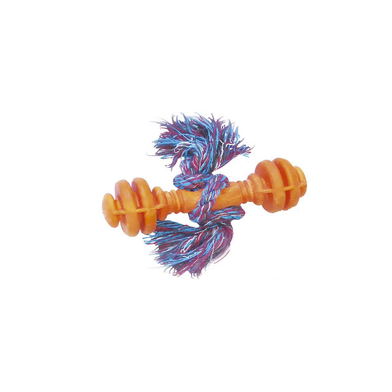 Brinquedo Furacão Pet Alteres Maciço de Borracha com Corda - Rosa