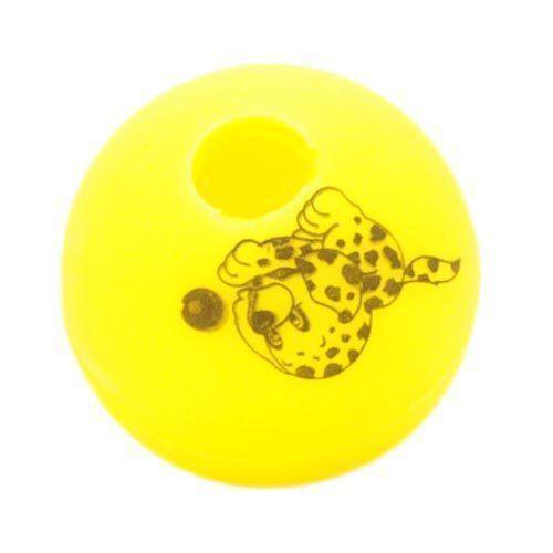Brinquedo Mordedor Lider Bola Adestramento - Amarelo