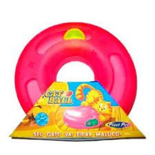 Brinquedo Plastpet Cat Ball - Vermelho