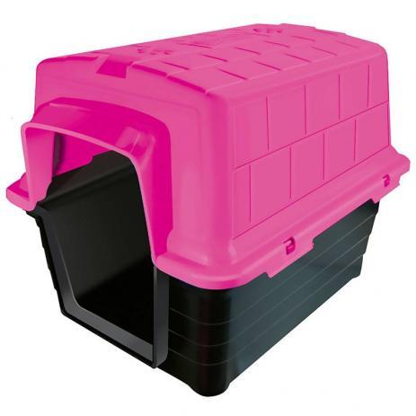 Casinha Furacão Pet de Plástico - Rosa
