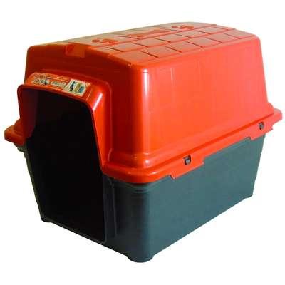 Casinha Furacão Pet de Plástico - Vermelho